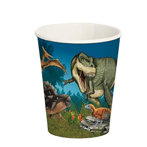 Neu 2019: 8 Vasos de Fiesta de Dinosaurio y T-Rex para cumpleaños Infantiles y Fiestas temáticas 11357, diseño de Dinosaurios