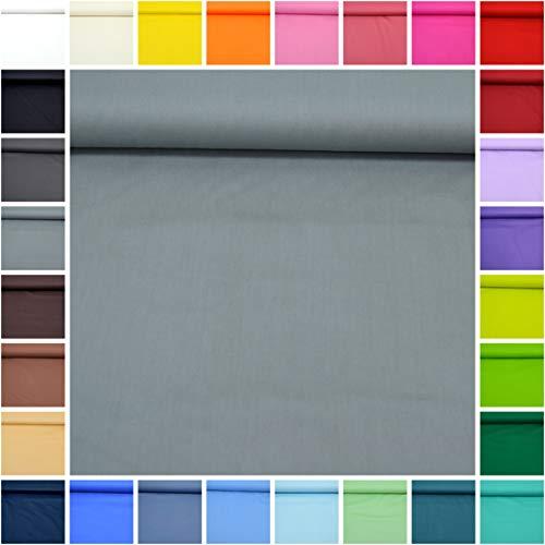 Tessuto al metro ''sophie'' in 100% cotone tinta unita - migliore oeko-tex qualità - tessuto da 50 cm (26. grigio)