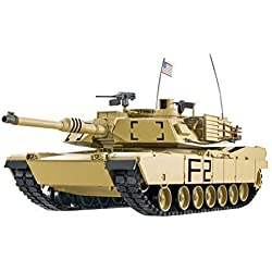'RC Tank M1 A2 Abrams 1: 16 henglong Smoke & Sound + Metal Gears and 2.4 GHz