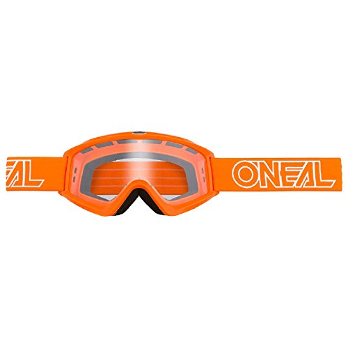 O'Neal B-Zero Goggle Moto Cross MX Brille Downhill DH Enduro Motorrad, 6030-11, Farbe Orange