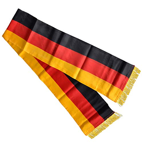 DOMMER Deutschland Fanschal 150 x 20 cm mit Fransen