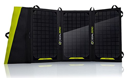 Goal Zero Nomad 20 Solar PanelDescription:Our largest foldable panel ensures you're collecting the most power from the sun for your gear. Utilize the built-in USB port or pair with a Goal Zero portable power pack to charge your gear day or night.Feat...