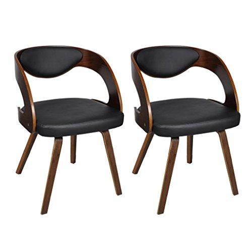 Anself 2er Set Wohnzimmerstuhl Esszimmerstuhl Stühle Set Küchenstuhl Designerstuhl 2 Typ Optional