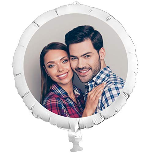 geburtstagsfee Personalisierter Foto-Ballon mit eigenem Foto, individuelle Überraschung XXL, mit Helium befüllbar, ohne Heliumfüllung