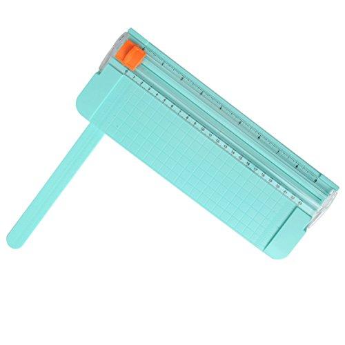 Jielisi Papierschneidemaschine kleine Rollenschneider Hebelschneider Schnittlänge 210mm A4 A5 Multifunktion für Kunsthandwerk Home Office, Grün