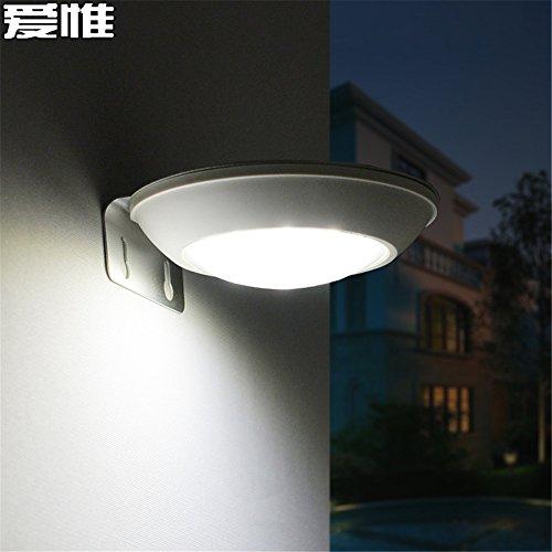 FIONADAN Solar Lampe Menschen Verursachte Wandleuchten Outdoor Innenhof Straße Licht Wasserdicht Balkongeländer Lampen-Led (Straße Lampe Licht)