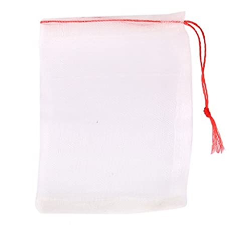 20pcs Drawstring Nylon Mesh Filter Media Bag for Aquarium Garden Pond 15 x 10cm