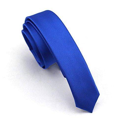 Elviros schmale einfarbige edle Herrenkrawatte für Business und Hochzeit 4cm