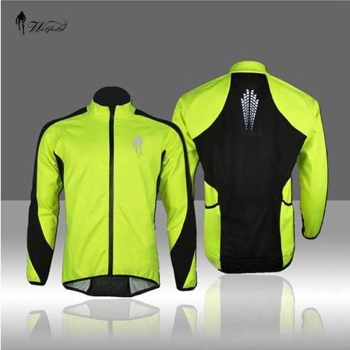 Byary (TM) 2016New pile energia protezione invernale in pile termico Bike ciclismo bicicletta indossare la maglia a maniche lunghe giacca, XXXL