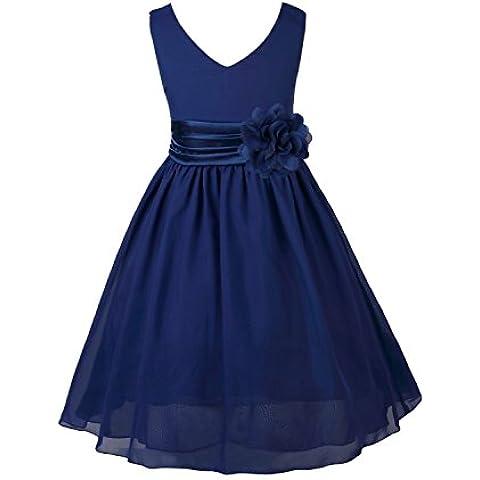 YIZYIF Niñas Vestido De Baile Vestido De Dama De Honor De Gasa De La Bola Para 2-14 Años