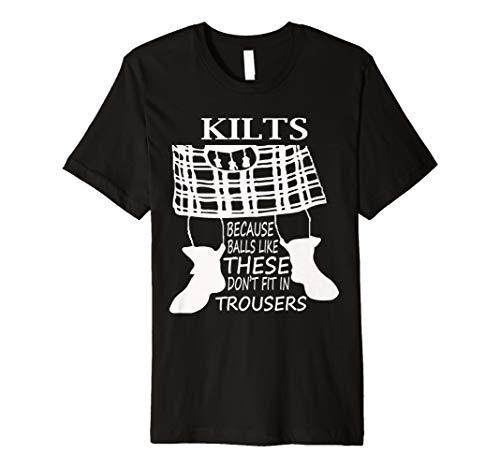 Kilt Träger T Shirt Lustiges Geschenk Idee für Scottish Herren