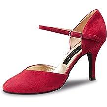 Nueva Epoca–Mujer Tango/Salsa Zapatos de baile gitana–ante Rojo–8cm, rojo, UK 3   EUR 36