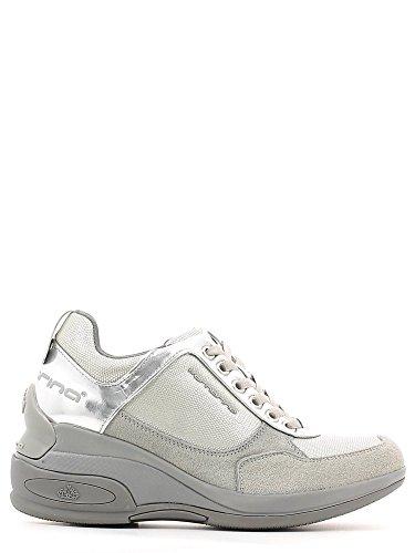Fornarina Sneaker Zeppa Colore Beige / Argento Camoscio Articolo PEFDY7615WJA0600 Nuova Collezione Primavera Estate 2016 PEFD Y7615WJA 0605