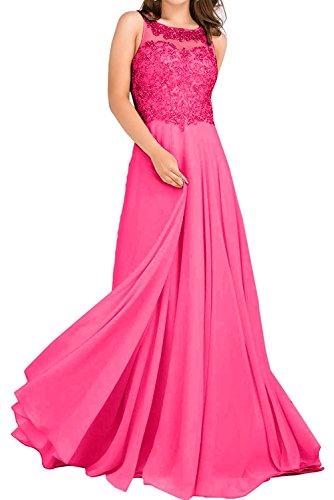 La_Marie Braut Hell Gruen Damen Spitze Hundkragen Abendkleider Ballkleider Abiballkleider Abschluss kleider Lang Pink