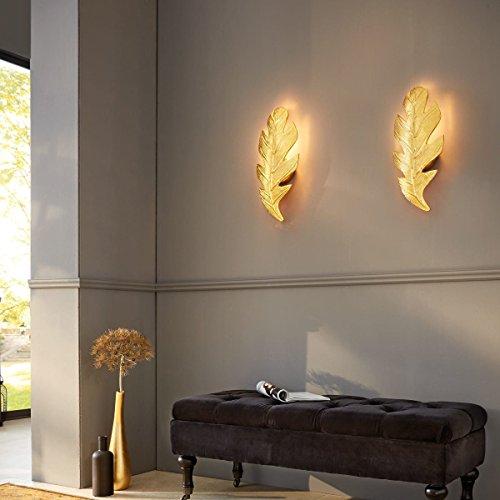 ... MiaVILLA Wandleuchte Leaf   Wandlampe Blatt   Aluminium   Gold ...