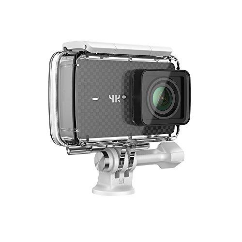 YI 4K + Cámara de Acción de 4K/60fps con estuche sumergible con wifi de ultra HD y ángulo amplio, que puede grabar videos y sacar fotos(EU Versión)(Negro)