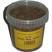 Frasco de 1 litro de gusanos de la harina secos, para aves silvestres