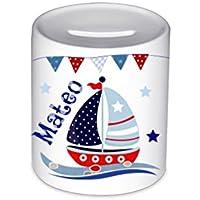 Spardose, mit Namen, Segelboot, für Kinder, Geschenk, Kinderspardose, Geschenk Geburt, Taufe, Sparschwein, Geldgeschenke,