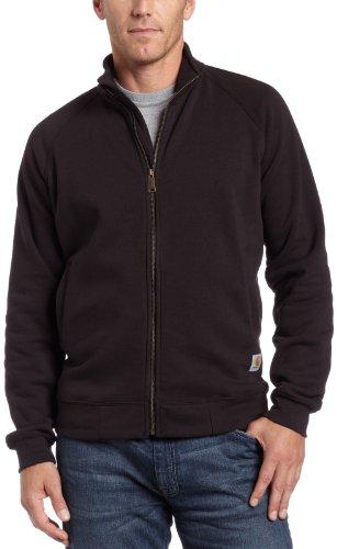 Carhartt Sweatshirt .K350.BLK.S007, mittelschwer, stehender Kragen, Reißverschluß vorne, Farbe: Schwarz, Größe: XL - Mit Reißverschluss Vorne Pullover
