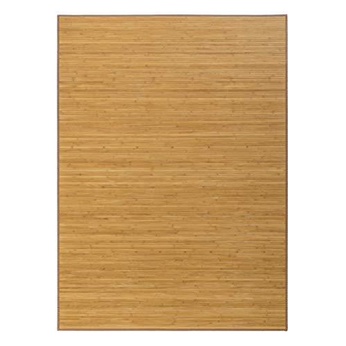 Alfombra de salón o Comedor Oriental marrón de bambú de 180 x 250 cm Sol Naciente - LOLAhome