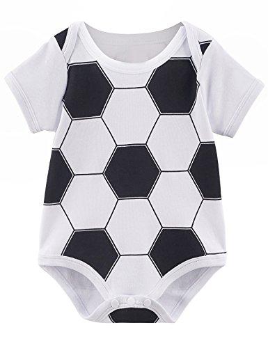 Mombebe Baby Jungen Fußball Kostüm Bodysuit (12-18 Monate, Fußball)