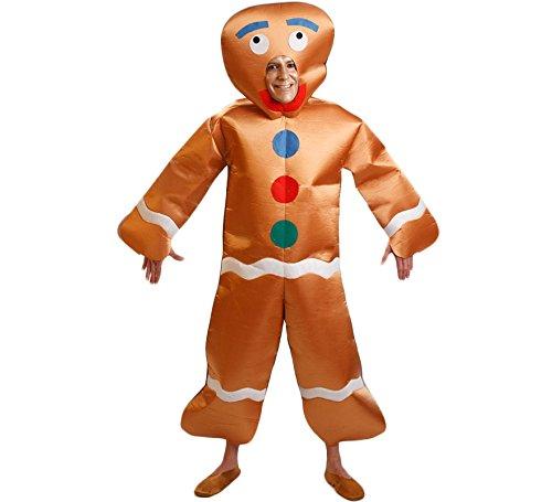 Imagen de disfraz de muñeco galleta de jengibre para hombre talla m l