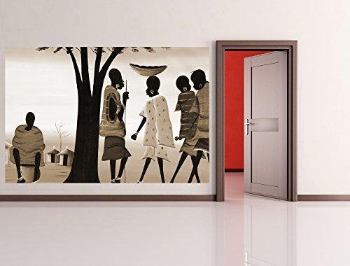 Bilderdepot24 autoadhesivo Fotomural 'Diseño de África II - sepia' 270x180 cm - directamente desde el fabricante