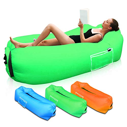Aufblasbares Sofa, Luftsofa Outdoor Wasserdichtes Air Lounger tragbarer Sitzsack Aufblasbare Luftcouch für Camping Picknicks, Garten, Strand