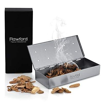 Rawford Smokerbox - Premium Räucherbox für EIN ganz besonders schmackhaftes Räucheraroma - Hochwertiges Grillzubehör für Gasgrill inkl. Pflegeanleitung - Smoker Box   Grillbox   Räuchern im Grill