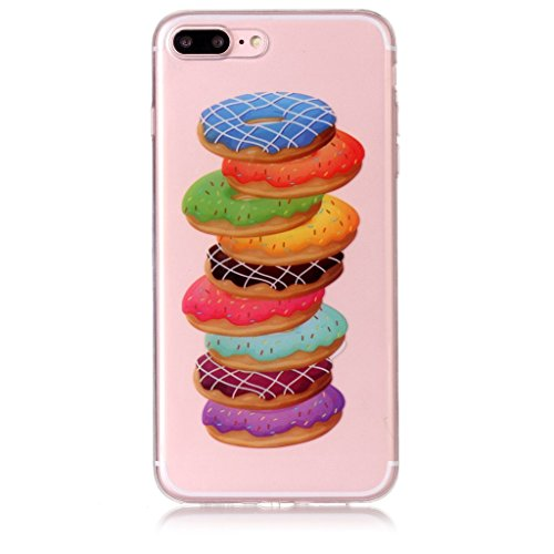 Per iPhone 8 Plus / iPhone 7 Plus Cover , YIGA nero fiore Cristallo Trasparente Silicone Morbido TPU Case Shell Caso Protezione Custodia per Apple iPhone 8 Plus / iPhone 7 Plus (5,5 pollici) XS72