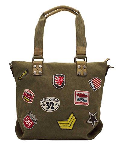 Hello Bag!, Borsa tote donna verde kaki