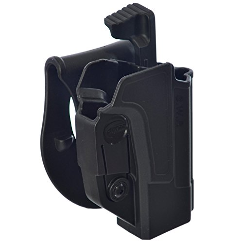 ORPAZ Defense Level 2 retention Tactical Thmub release safety Holster, Tention adjustment, Rotating 360 ROTO paddle for All Smith & Wesson S&W M&P 9mm, .40cal, .22cal & .45cal, M&P M2.0 in 9mm, .40cal & .45cal, SD9, SD40, SD9VE (Smith Wesson-sd40 Ve Holster And)