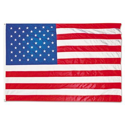 All-Weather Outdoor U.S. Flag, Heavyweight Nylon, 5 ft x 8 ft, Sold as 1 Each by Advantus -