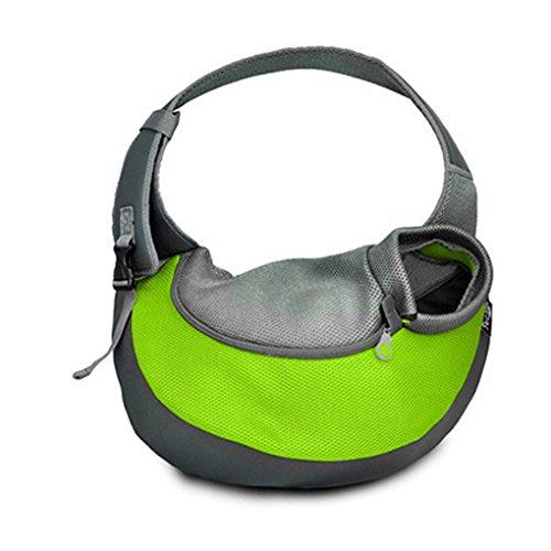 Elenxs Haustierbeutel Gehen Hund Zubehör Reisen Outdoor-Umhängetasche, Reisetasche für Yorkie, Chihuahua etc. (Tasche Auf Der Kragen Vorderseite)
