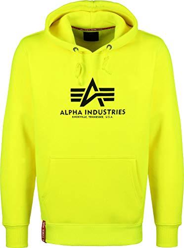 Alpha Industries Kapuzenpullover Basic orange braun rosa gelb schwarz weiß (XXL, Neon/Yellow) -