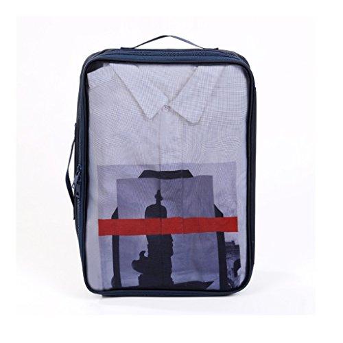 YONGJUN Ropa De Viaje Bolsa De Almacenamiento Camiseta Bolsa De Almacenamiento Bolsas De Viaje Ropa Interior Multifunción Bolsa De Acabado Portátil ( Color : Azul marino )