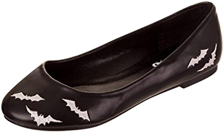 Banned – Mujer Gótico bailarinas murciélagos – Bats Color Blanco