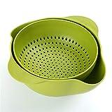 Obstteller waschen obst hause küche wohnzimmer gericht multifunktions doppel waschbecken ablaufkorb, grün
