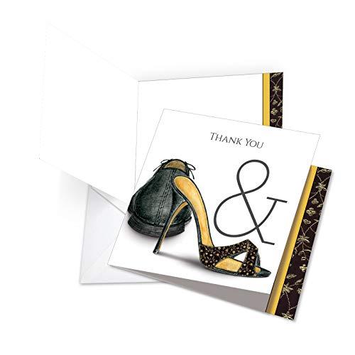 jq5068cwyg New Jumbo square-top Thank You Grußkarte: Perfect Pair mit Damen und Herren Hochzeit Schuhe gepaart für Life, mit Umschlag (Größe: 21x 24,8cm) -