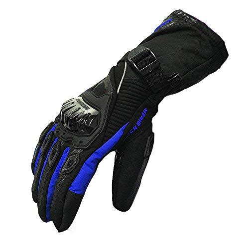 Schutzhülle Motorrad Handschuhe Touchscreen Winter Warm Wasserdicht Winddicht, Blau
