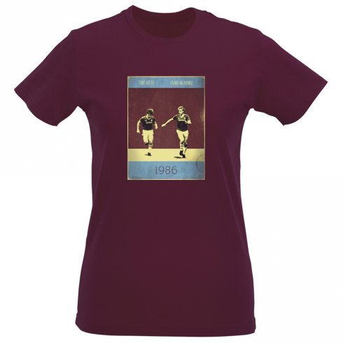 frank-mcavennie-tony-cottee-1986-vintage-poster-slim-fit-t-shirt-medium-12-14-maroon