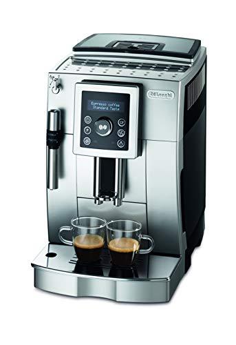 De'longhi Ecam 23.420.sb - Super automatische Kaffeemaschine, 15 bar Druck, 1,8 l abnehmbarer Wassertank, LCD-Panel, Cappuccino-System, einstellbarer Kaffeespender, automatische Reinigung, Silber