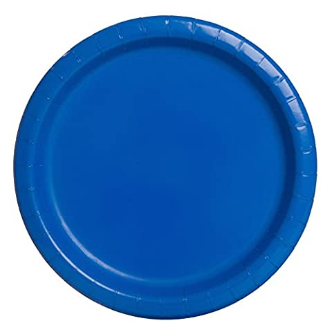 23cm Royal Blue Party Plates, Pack of 16