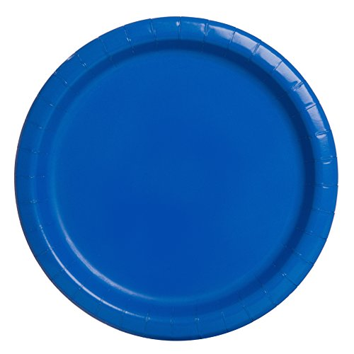 Unique Party 21.9cm Party Teller, 16er Pack, königsblau