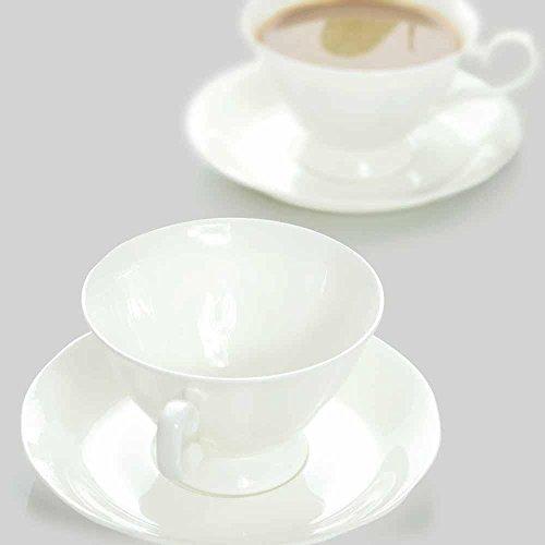 SSBY Sans plomb blanc anglais OS soucoupe de soucoupe café - tasse à café en céramique Chine café tasses et soucoupes