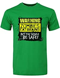Zombies Eat Brains, You Should Be Safe Men's T-Shirt Green