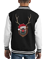 Bane Dark Knight Rises Christmas Antler Head Kid's Varsity Jacket