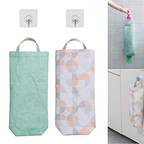 Bolsa de supermercado Bolsas de basura de onda redonda para cocina blanco y azul 37x17x7cm