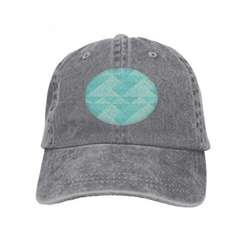 Xunulyn Vintage Cap Hat Adjustable Baseball Hat for Unisex Natural Seamless Geometric Pattern Pattern Stripes Scribble Texture Gray -
