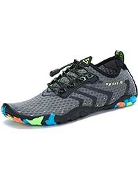 SAGUARO Zapatos de Agua Hombre Mujer Deportes Acuáticos Escarpines para la  Playa de Buceo Surf Snorkel… cc0b29a15a9